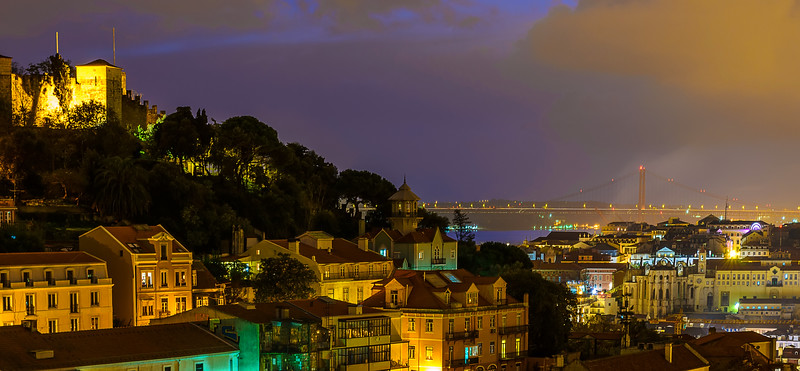 Beautiful Lisbon City by Night Photography By Messagez com