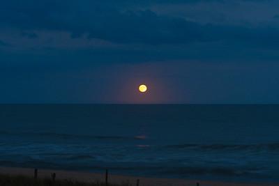 Moonrise over the Ocean - Beach Haven, New Jersey