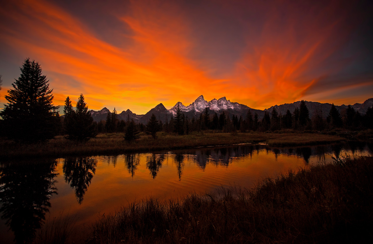 Glow of the Teton Mountains