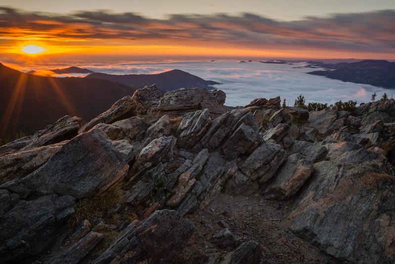 Foggy Sunrise in Colorado