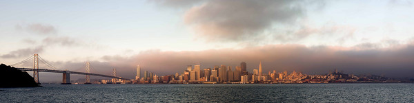 Morning SF Skyline from Treasure island - sized to a 10' wide print - contact me for pricing on this