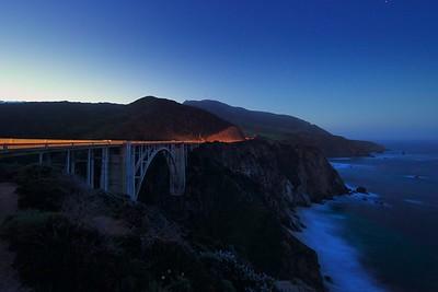 Bixby Creek Bridge Before Dawn