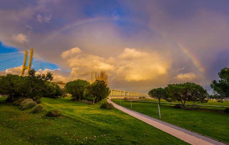 The Magical Rainbow Lisbon Panoramic Photography By Messagez.com