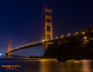 Golden Gate Bridge from Fort Baker pier.