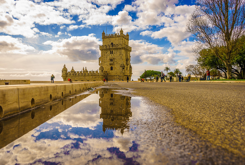 Original Lisbon Tower Reflection Fine Art Photography By Messagez com