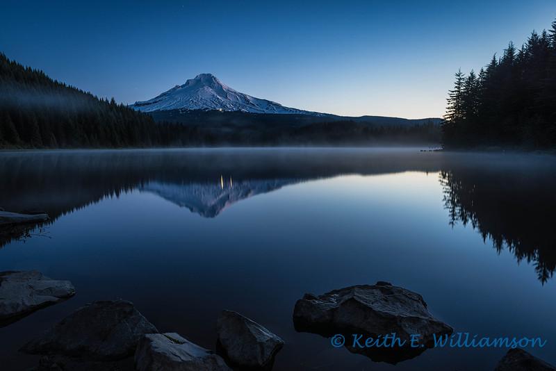 Mount Hood, Trillium Lake, before sunrise