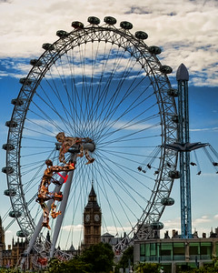 London Eye With Invaders