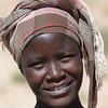 Regina, local Damara woman, an der C39, Petrified Forest auf dem Weg zwischen Khorixas und Twyfelfontein, Damaraland, Namibia