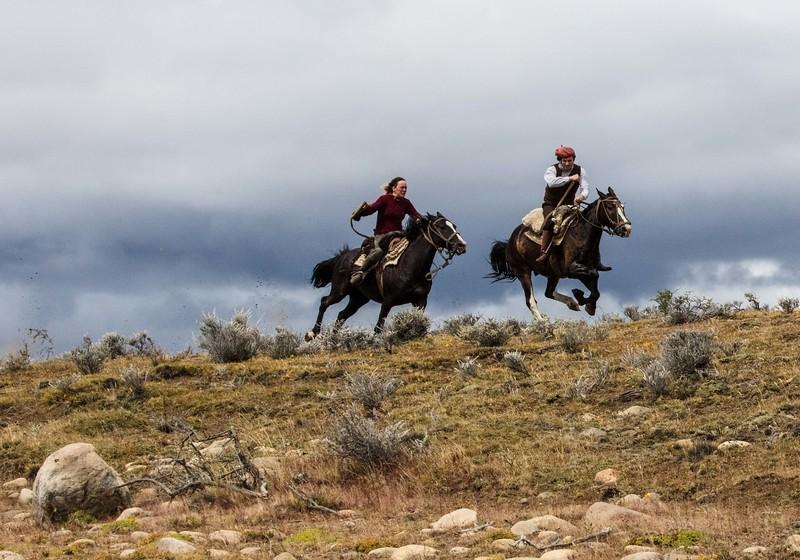 Patagonia Gauchos at full gallop