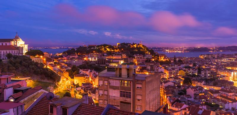 Original Lisbon Blue Hour Landscape Photography By Messagez com