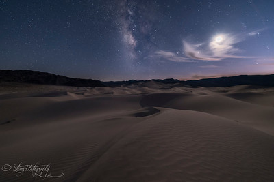 Deep Blue Hour in Eureka Dunes, Death Valley, CA