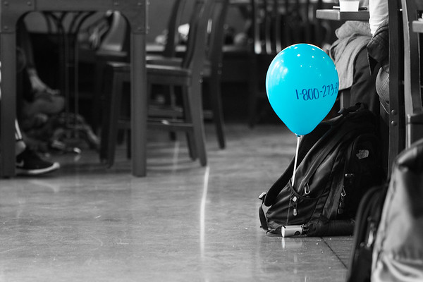 It's the small gestures. We may never meet who we impacted today, and for many it was just a cool balloon to carry around for an hour, but there was someone out there on campus that needed confirmation. One small gesture can make a world of a difference to someone who needs it most. Offer a smile today.