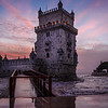 Lisbon Tower Bridge at Sunset