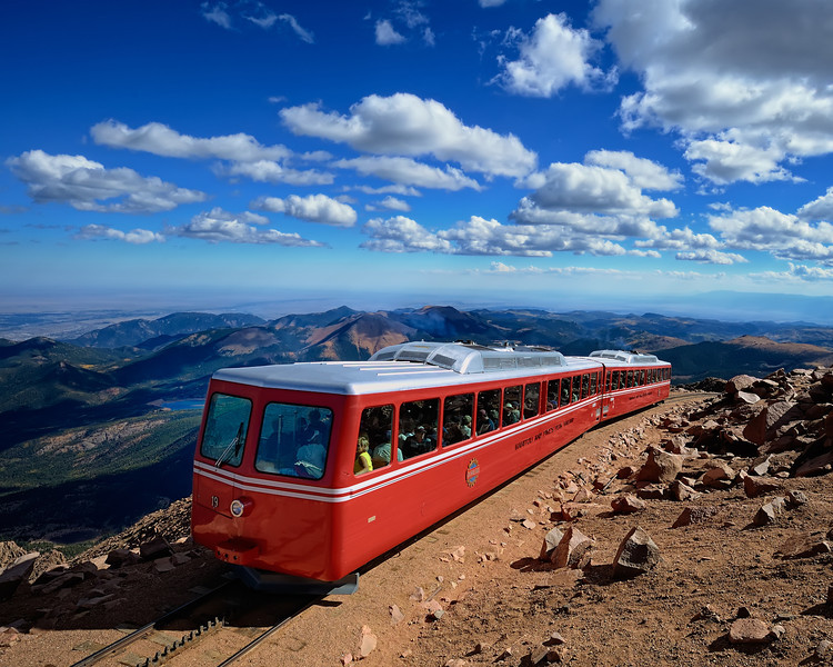 The Pike's Peak Cog Railway at 14,115 Feet (4300+ m)