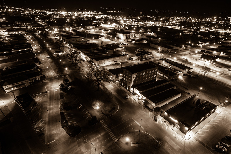 Night Time Downtown (BW)