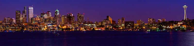 Seattle Panoramic from north Lake Union