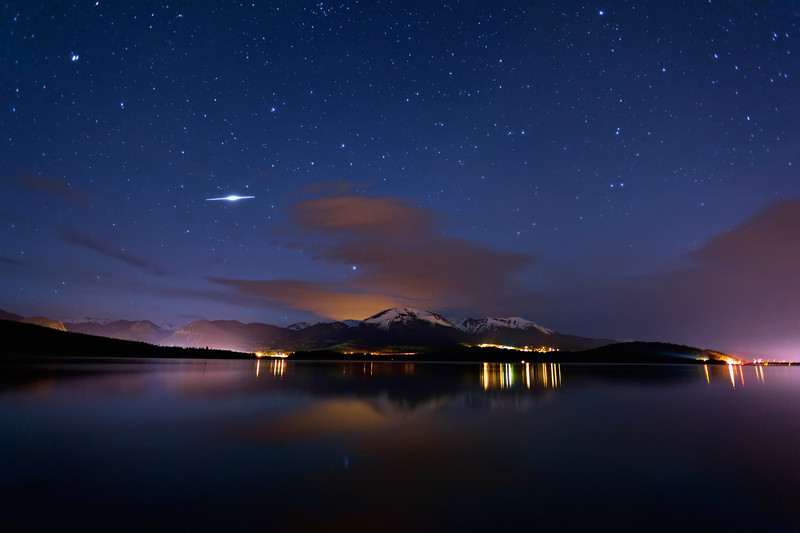 Iridium Flare Over Lake Dillon