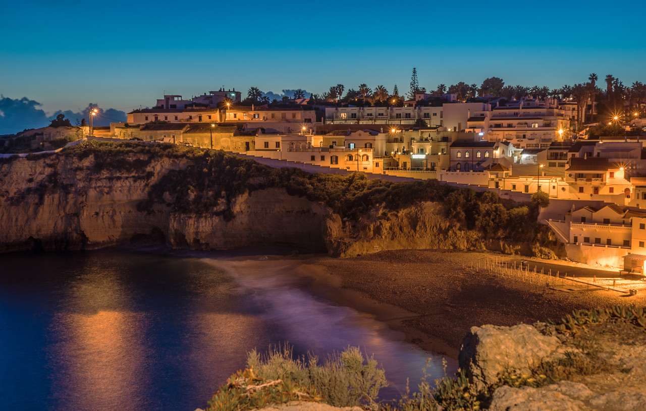 Original Algarve Carvoeiro Beach Photography 2 at Night Messagez com