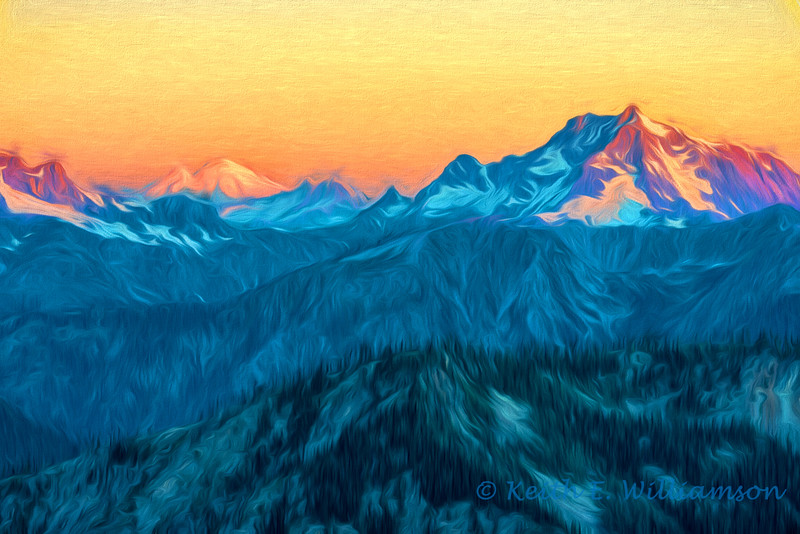 Sunrise on the North Cascades