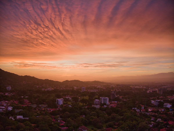 Sunset over Escazu