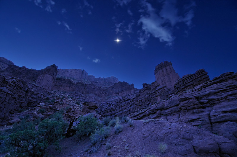 The Magic of Moonlight at Fisher Towers