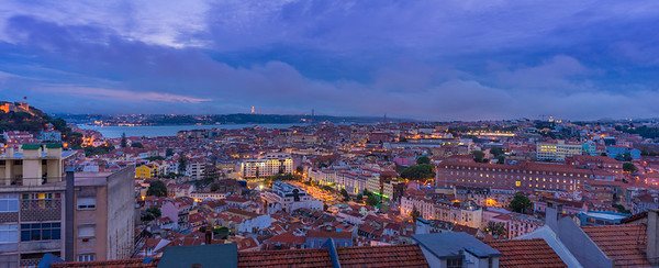 Lisbon Viewpoint at Blue Hour Photography By Messagez com