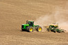 Using an air seeder to plant garbanzo beans in the Palouse region of Washington