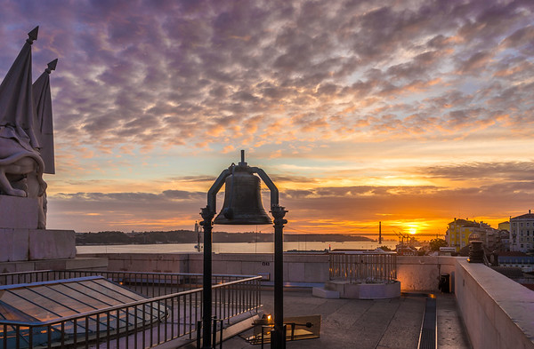 Lisbon Triumphal Arch Viewpoint Sunset Photography By Messagez com