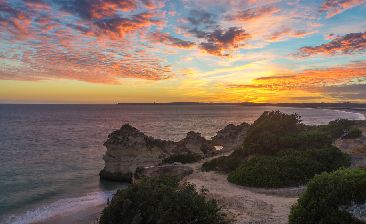Unique Portugal Algarve Coastline at Sunset Photography 2 Messagez com
