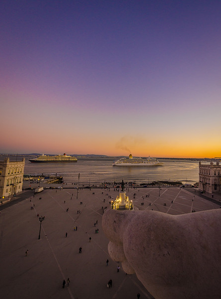 Lisbon Augusta Street Triumphal Arch Viewpoint Sunset Photography 9 By Messagez com