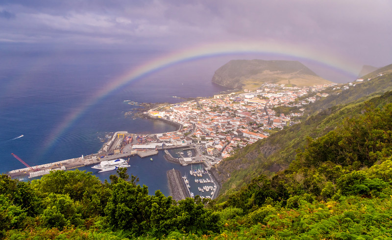 Rainbow Portal Azores Islands Photography By Messagez com