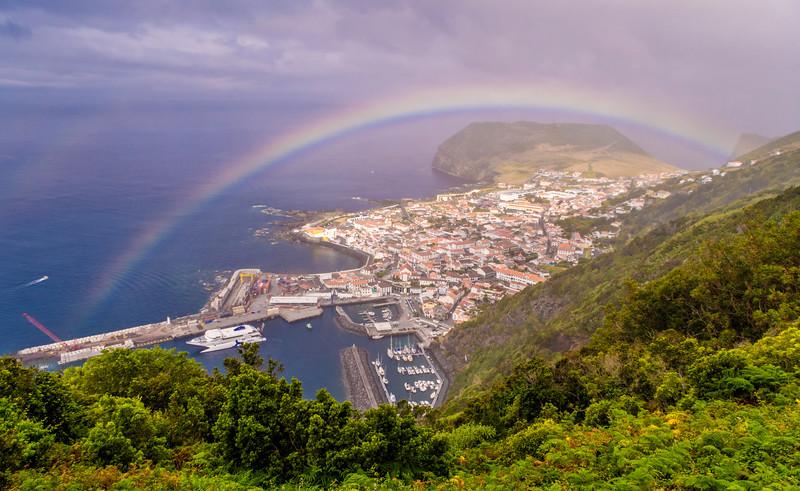 Rainbow Portal Azores Islands Photography By Messagez com