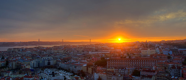Lisbon View Sunset