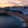 Algarve Carvoeiro Magic Beach Beauty at Sunset By Messagez com
