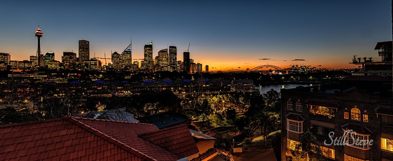 Winter Sunset in Sydney, Australia