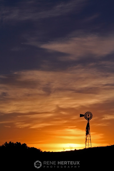 Windmill sunrise, Turtle Lake WI