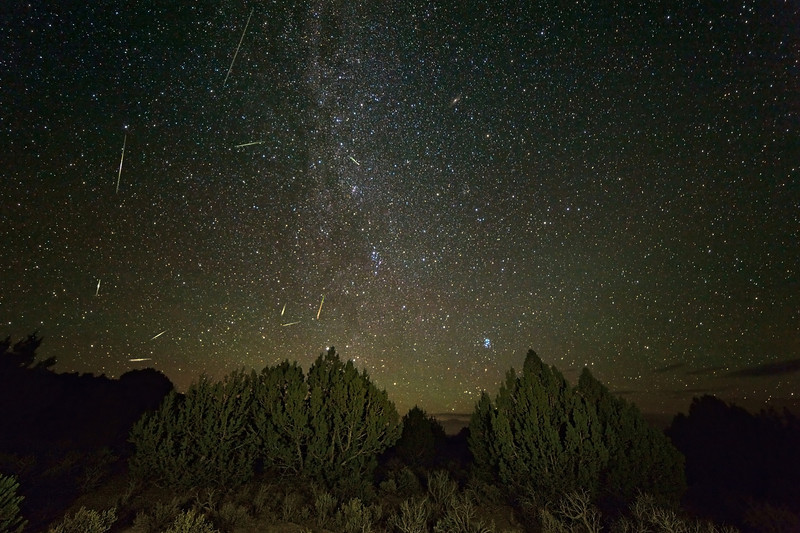 Early Perseids Over the White Pine Range