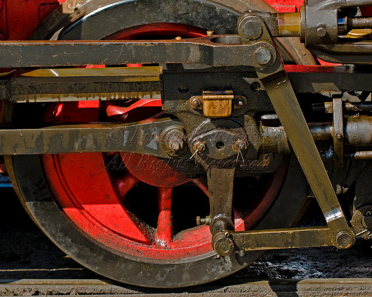 Locomotive wheel at Boothbay Railway Museum
