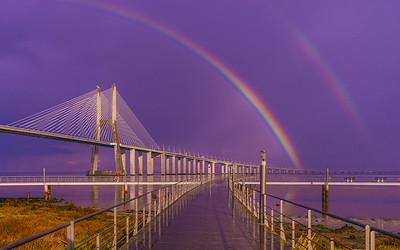 Magical Bridge Rainbow Photography 2 By Messagez com