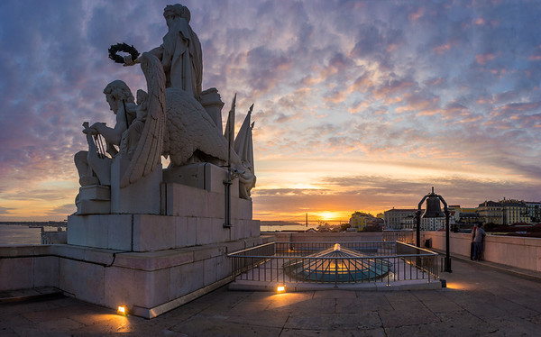 Lisbon Rooftop Sunset Panoramic Photography By Messagez com