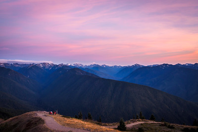 Sunset at Hurricane Ridge