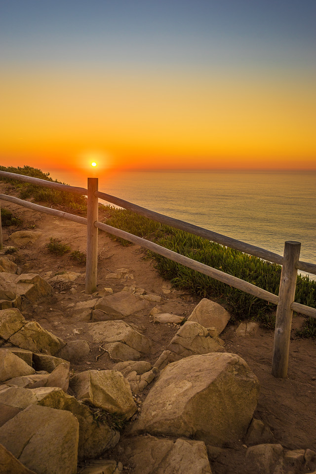 Portugal Atlantic Ocean Sunset Alignment Viewpoint Photography By Messagez com