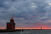 Holland lighthouse sunset, Holland MI