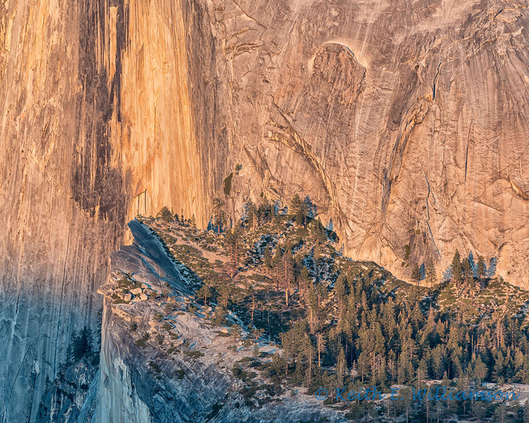 West flank of Half Dome, at sunset