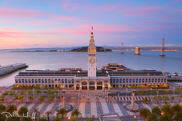 """Ferry Building Pinks & Blues"". Today started out drizzly and dreary but turned out beautifully... about all you can ask for on a Monday, right?"