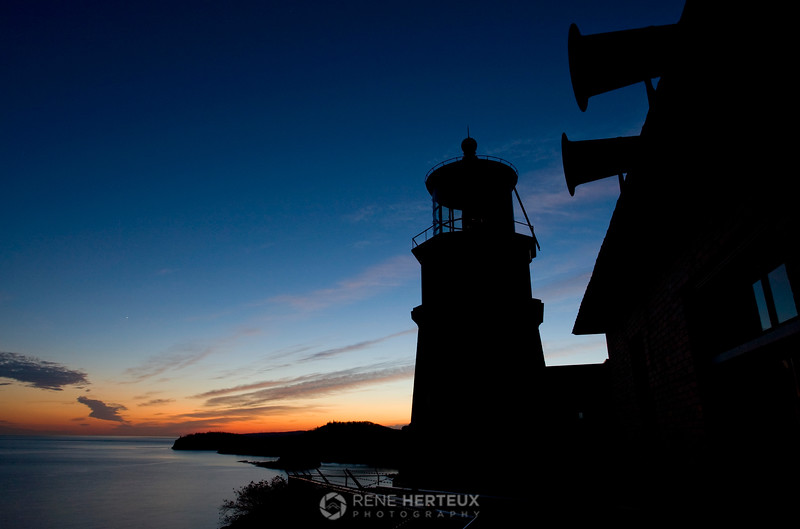 Split Rock lighthouse silhouette, Split Rock State Park MN