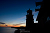 Split Rock lighthouse silhouette, Split Rock State Park MN