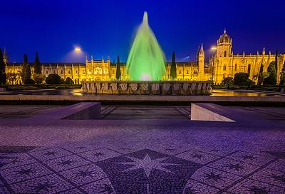 Lisbon Geronimos Blue Hour Fine Art Photography By Messagez.com