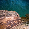 Snake petroglyph and the Milky Way Galaxy, Utah