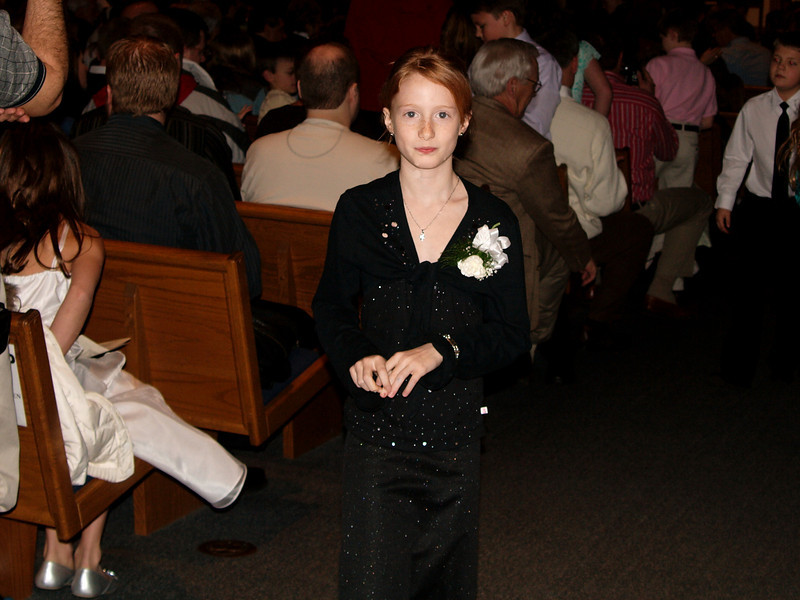 Carly at her First Communion